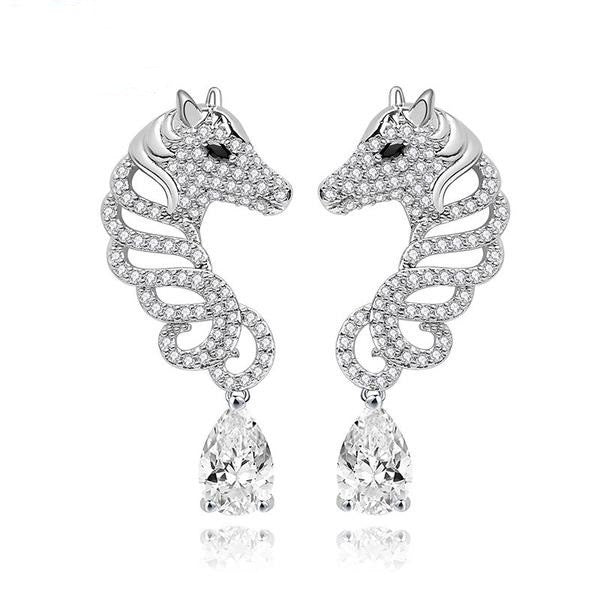 Horse Studded Earrings - Zana Horse - 1