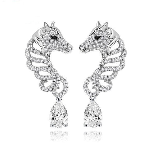 Horse Studded Earrings