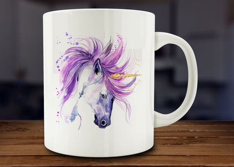 Unicorn Mug - Handmade - Water Color Design