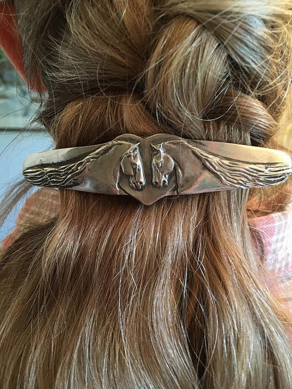 Hand Made Horse Barrette