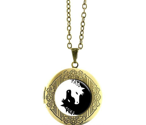 Yin-Yang Horse Necklace