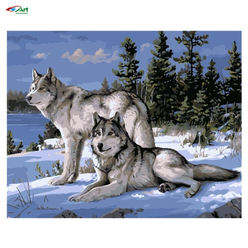 Painting By Numbers - Snow Wolf - Zana Horse - 1