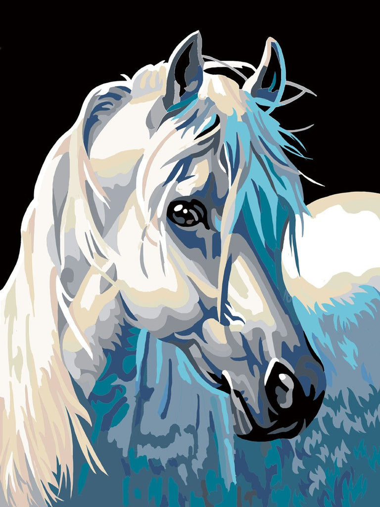 Painting By Numbers - White Horse - Zana Horse - 1