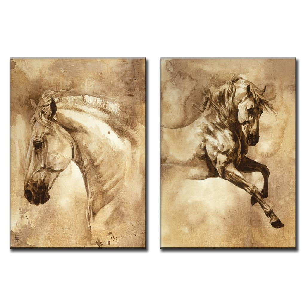 Oil Painting Wall Deco - Zana Horse - 1