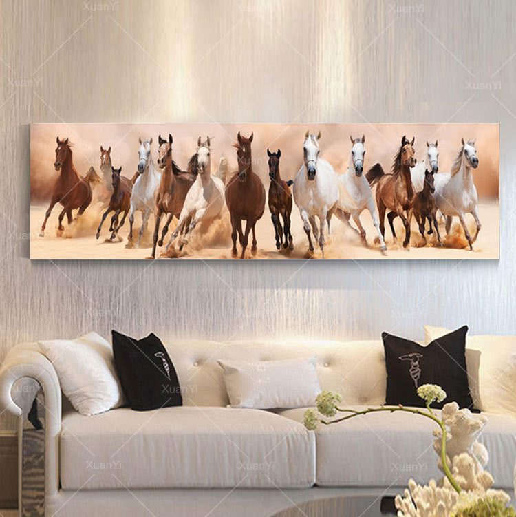 Wall Art Decor - Herd of Horses - Zana Horse