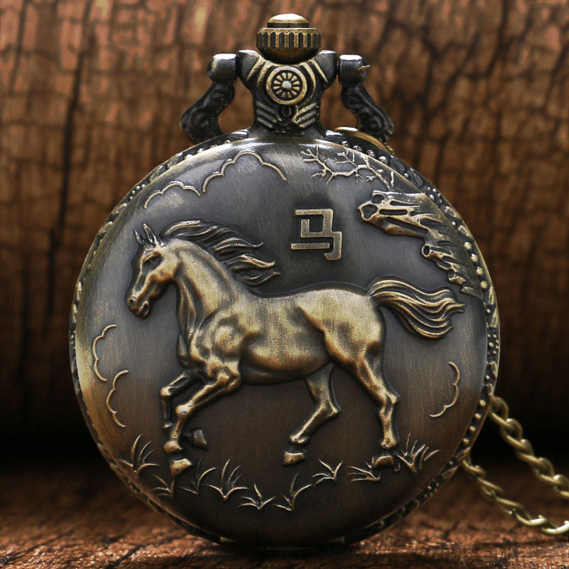 3D Horse Pocket Watch