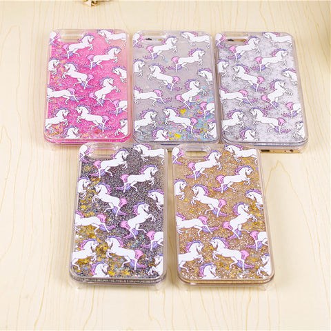 Horse iPhone Hardcase Cover with Liquid Glitters