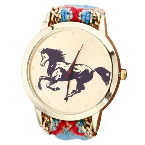 Braided Horse Watch