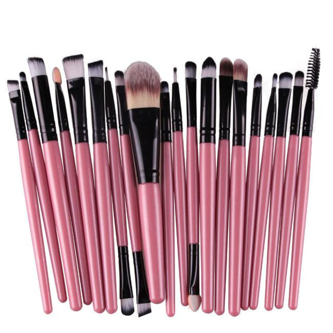 20 top quality makeup brushes in one set for less money