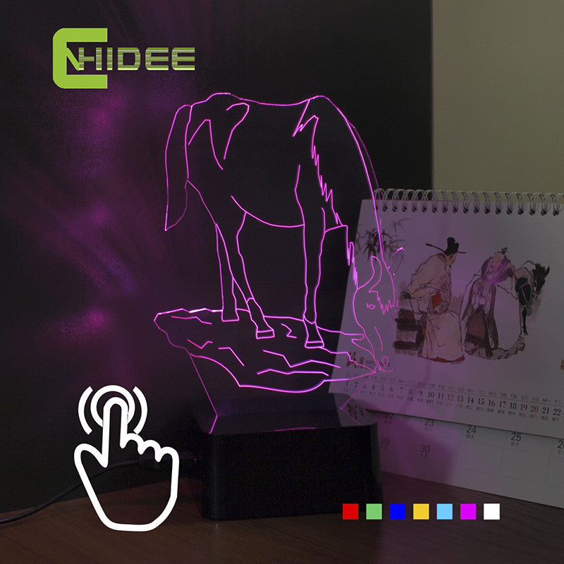 3D Horse Color Changing Desk Lamp - Zana Horse - 1
