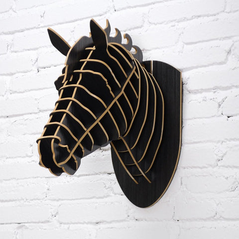 DIY 3D Wooden Horse Art
