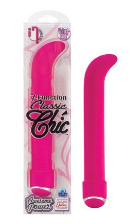 "Classic Chic 7 Function G 6.25"" Vibrator  - Pink"