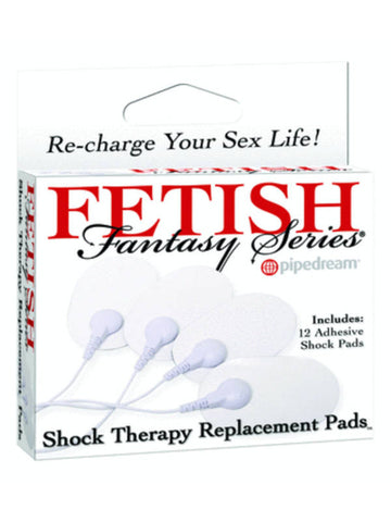 Fetish Fantasy Shock Therapy Replacement Pads - 12 Electro-Sex Pads