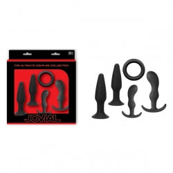 Jovial Anal Trainer Kit - 5 Piece Set - Black