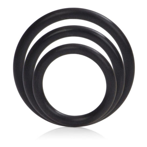 Silicone Support Rings - Black Three Pack