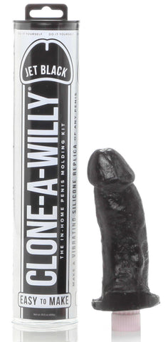 Clone A Willy Vibrating Kit - Jet Black