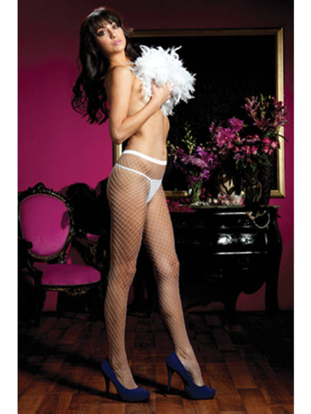 Seven Til Midnight Diamond Fishnet Pantyhose 20311 One Size Fits Most - White