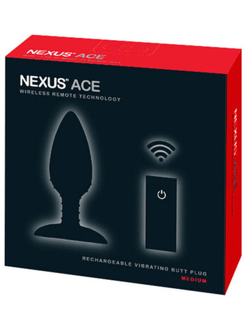 ACE Medium Remote Control Vibrating Butt Plug Black