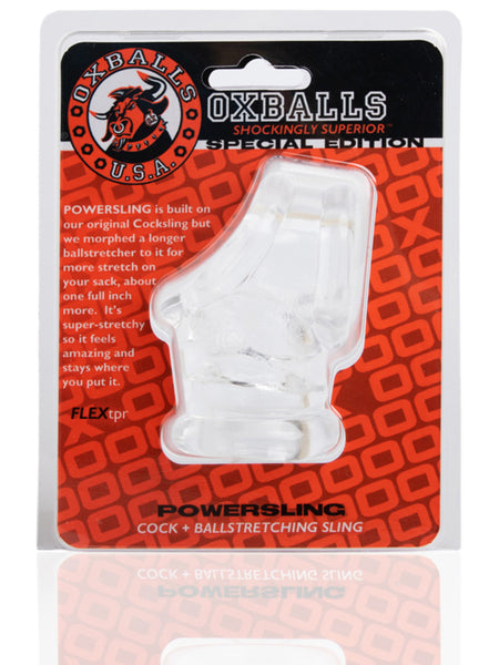 Oxballs Powerballs Cocksling And Ballstretcher Clear