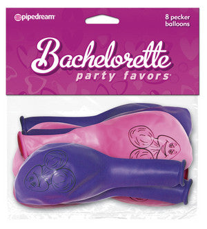 Bachelorette Party Pecker Balloons Pink 8 Piece