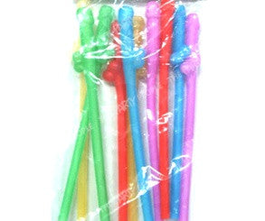 Dicky Sipping Straws Assorted Colours (10 PK)