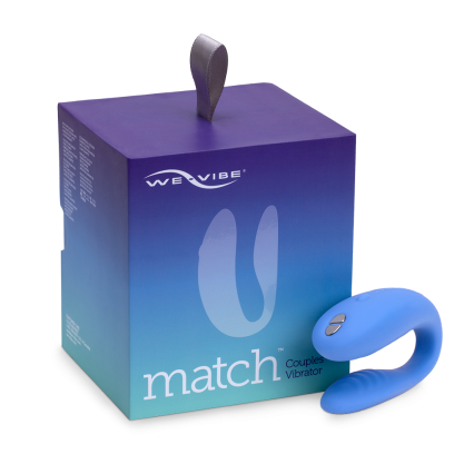 WE-VIBE MATCH REMOTE CONTROL COUPLES VIBRATOR THAT'S WORN DURING SEX