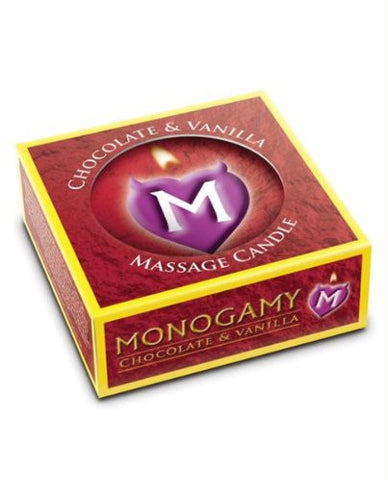 Monogamy Small Massage Candle Chocolate & Vanilla Scented Massage Candle 25g
