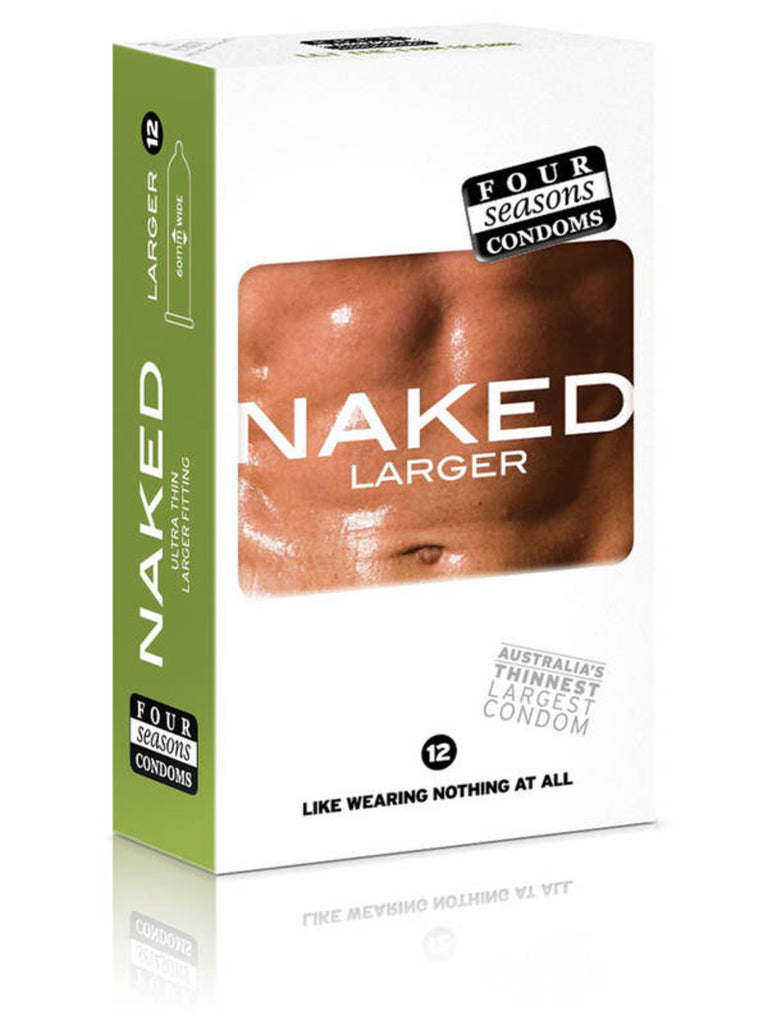 Four Seasons Naked - Larger - 12 Pack Condoms - TGA 138592