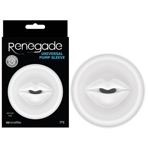 Renegade Universal Pump Sleeve Clear Mouth-Shaped Penis Pump Sleeve