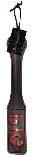 "Manbound by Sportsheets 12"" Leather Pig Impression Paddle"
