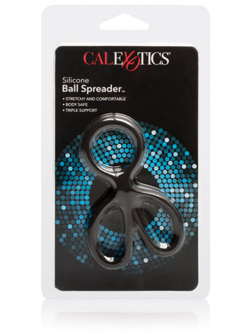 Calextics Silicone Ball Spreader Stretchy and Comfortable Body Safe Triple Support with Scrotum Rings