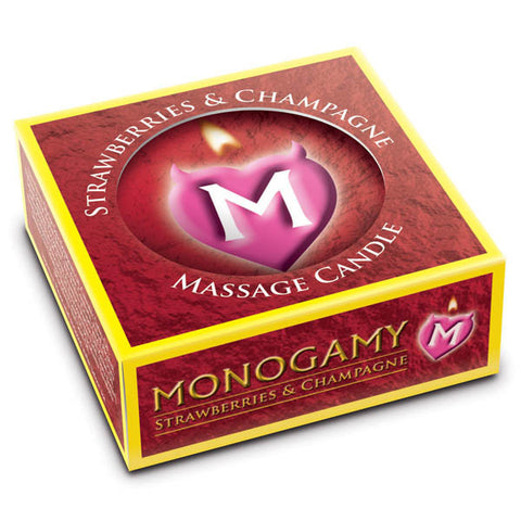 Monogamy Small Massage Candle Strawberries & Champagne Scented Massage 25g