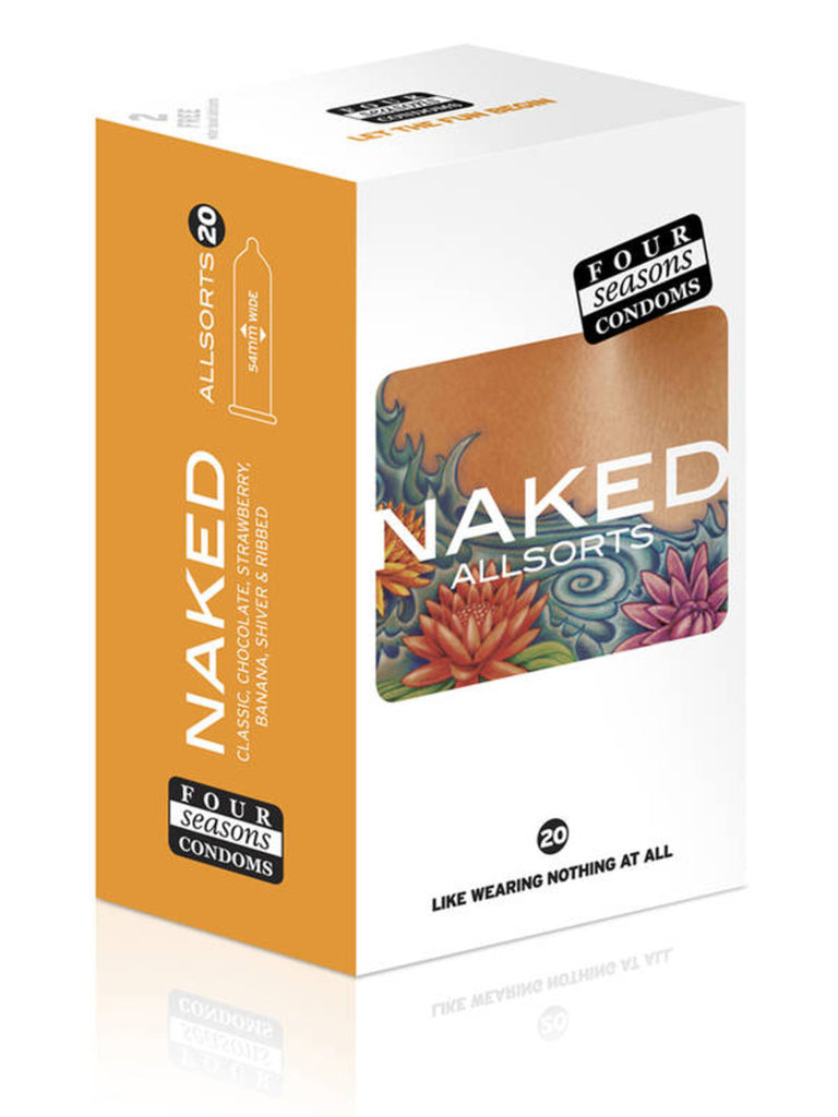 Four Seasons Naked AllSorts - 20 Pack Condoms - TGA 144896
