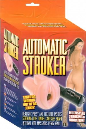 Automatic Stroker (Flesh) - Vibrating Multispeed Masturbator with Textured Inside