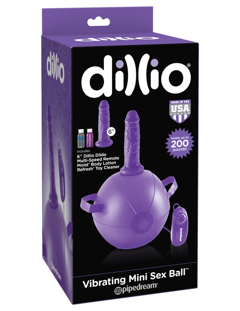 Dillio Purple Vibrating Mini Sex Ball With 6 Inch Dong