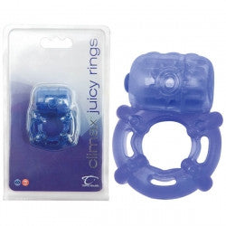 Climax Juicy Vibrating Cock Ring - Blue
