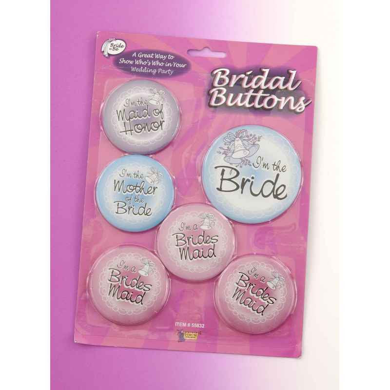 Bridal Buttons - 6 Pack - Hens Night Party