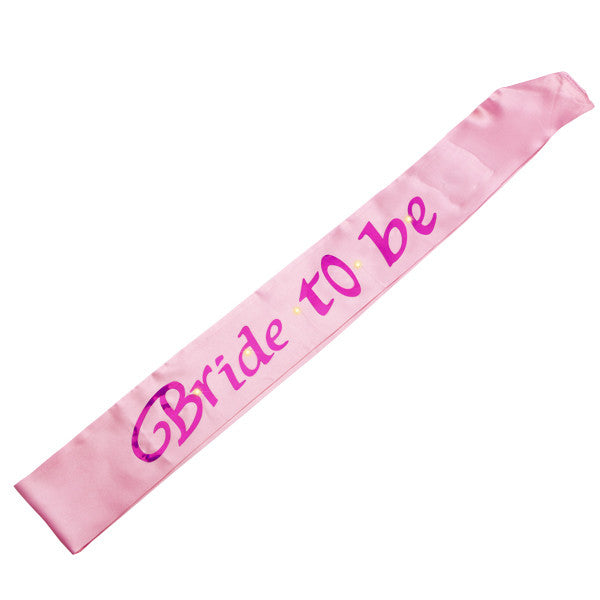 Bride to Be Hens Night Pink Flashing Sash