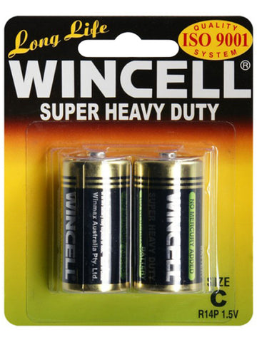 Wincell C Super Heavy Duty Batteries BP-2 (2 Pack)