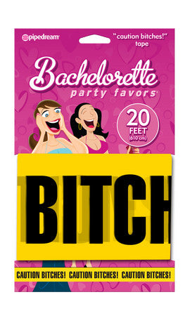 "Bachelorette Party Favors ""Caution Bitches!"" Tape 20 Feet Of Tape"