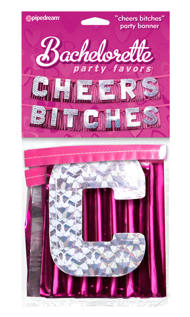 "Bachelorette Party Favors ""Cheers Bitches!"" Party Banner"