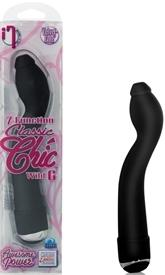 "7 Function Classic Chick ""Wild G"" Waterproof Black Vibrator 5.75"""