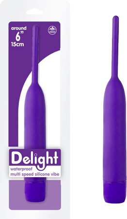 "Delight  6"" Super Soft Waterproof Multispeed Silicone Vibrator Purple"