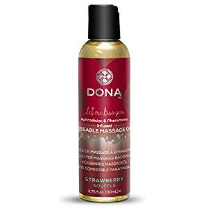 Dona Kissable Massage Oil Strawberry Souffle 4 oz