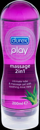 Durex Play 2 in 1 Massage Oil and Water Based Lubricant - Aloe Vera