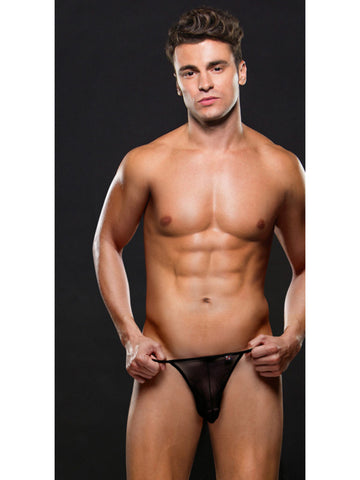 Envy Mesh G-String Black L/XL Mens