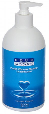 Four Seasons Pure Water Based Lubricant 500ml Pump