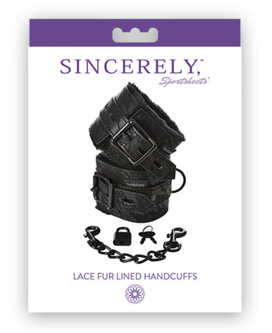 Sincerely Lace Fur Lined Handcuffs