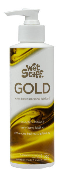 Wet Stuff Gold Pump - Water Based Lubricant with Vitamin E - 270g