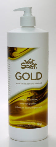 WET STUFF GOLD WATER BASED LUBRICANT PUMP PACK 1KG